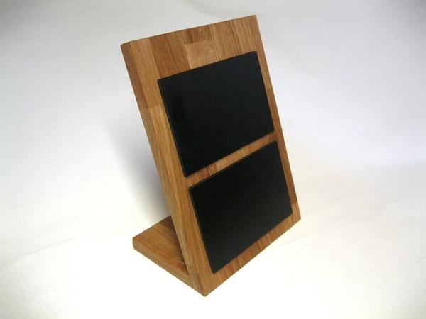 Kreidetafel Aus Holz Eiche Mit 2x A6 Querformat Tafel